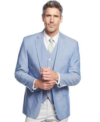 Lauren Ralph Lauren Blue Chambray Sport Coat & Vest - Suits & Suit ...