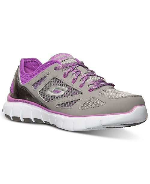 6a024a9d1bdf ... Skechers Women s Relaxed Fit  Skech Flex - Royal Forward Running  Sneakers from Finish ...