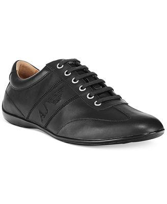 Armani Jeans Low-Profile Leather Sneakers
