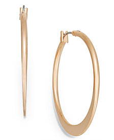 Charter Club Rose Gold-Tone Hoop Earrings