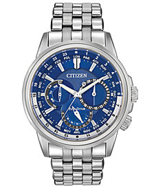 Citizen Men's Eco-Drive Calendrier Stainless Steel Bracelet Watch 44mm BU2021-51L