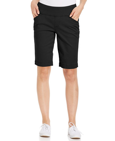 JAG Ainsley Bermuda Pull-On Twill Shorts - Shorts - Women - Macy's