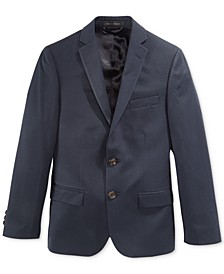 Big Boys Husky Solid Suit Jacket