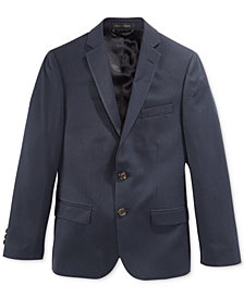Lauren Ralph Lauren Solid Navy Suit Jacket, Big Boys Husky