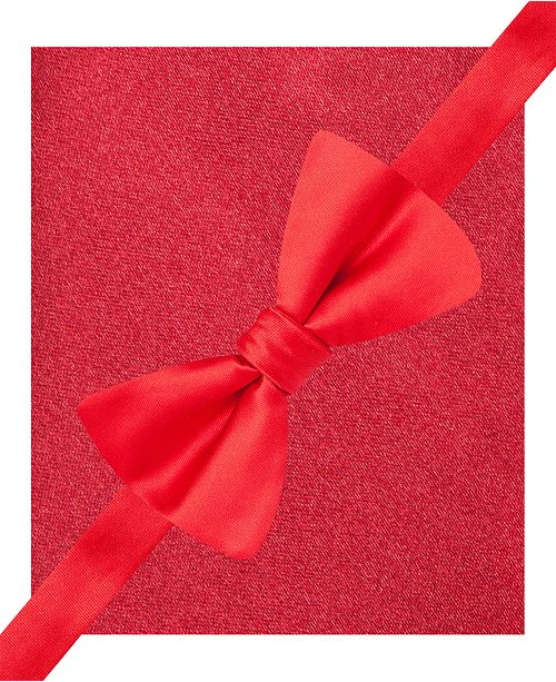 bfa249dc6172 ... Created for Macy's; Alfani Men's Red Bow Tie & Silk Pocket Square Set,  ...