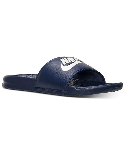 b4d76a220063 Nike Men s Benassi JDI Slide Sandals from Finish Line   Reviews ...
