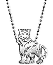 Little Tiger Zodiac Pendant Necklace in Sterling Silver