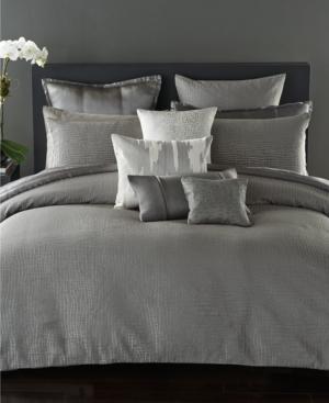 Donna Karan Surface Silk Quilted European Sham Bedding