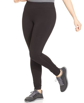 Ideology Plus Size Slimming Leggings, Only at Macy's - Plus Sizes ...