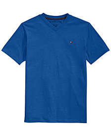 Tommy Hilfiger Boys' Solid V-Neck Tee, Big Boy's