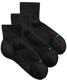 HUE® Women's Air Cushion Mini Crew 3 Pack Socks