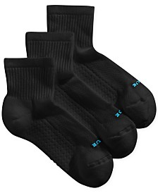 HUE® Women's Air Cushion Mini Crew 3 Pack Socks