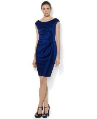 Lauren Ralph Lauren Cap-Sleeved Dress