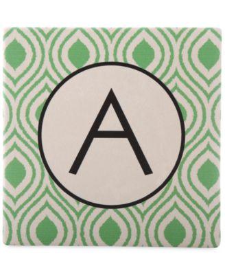 Monogram Coasters, Set of 4