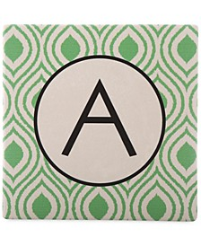 Monogram Coasters, Set of 4