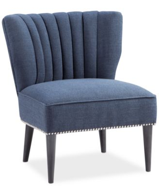 kenzie fabric accent chair quick ship