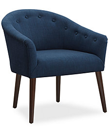 Tobias Fabric Accent Chair, Quick Ship