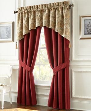"Last Act! Waterford Beaumont 84"" x 34"" Window Valance Bedding 1920677"