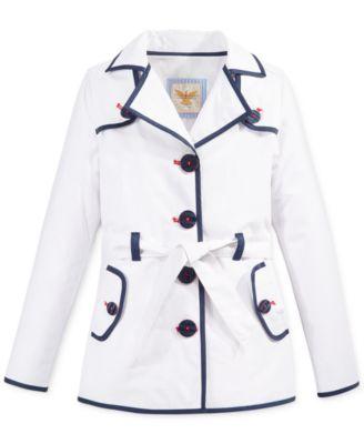 London Fog Hooded Trench Coat Big Girls 7 16 Coats