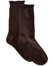 HUE® Women's Solid Femme Top Sock