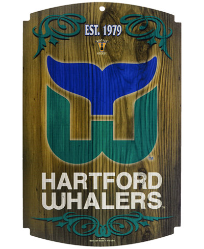 Wincraft Hartford Whalers Wood Sign