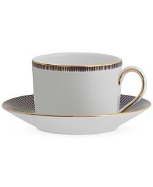 Waterford Lismore Diamond Lapis Teacup & Saucer