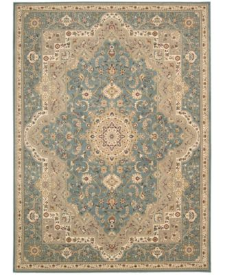 """Home Antiquities Imperial Garden Slate Blue 9'10"""" x 13'2"""" Area Rug"""