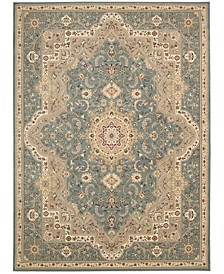 "Home Antiquities Imperial Garden Slate Blue 9'10"" x 13'2"" Area Rug"