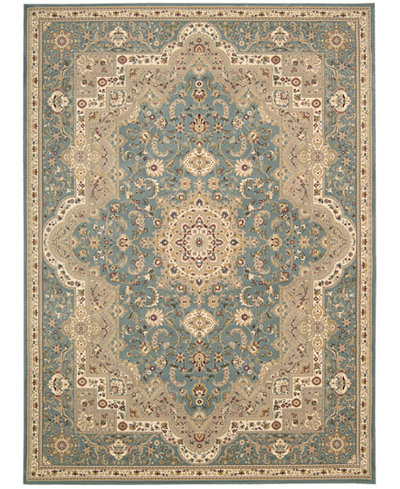 Kathy Ireland Home Antiquities Imperial Garden Slate Blue Area Rugs