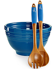 Fiesta Lapis 3-Piece Salad Set