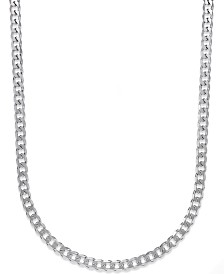 Men's Curb Chain Necklace in Sterling Silver