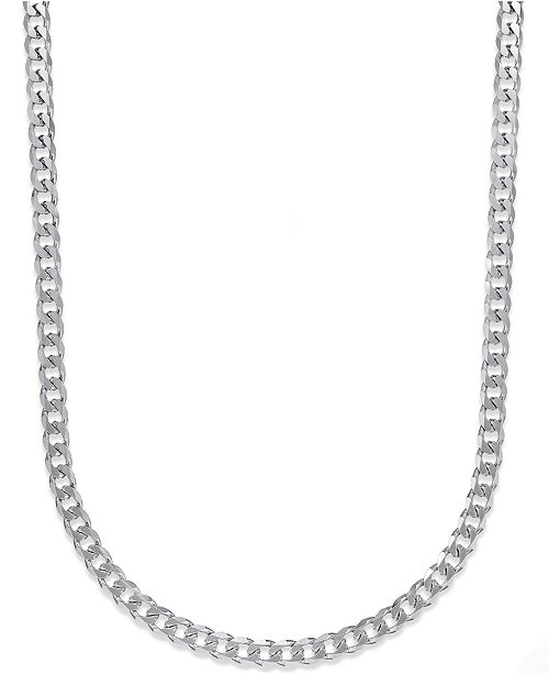 f63b7aaa45963 Men's Curb Chain Necklace in Sterling Silver