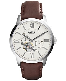 Men's Automatic Townsman Brown Leather Strap Watch 44mm ME3064