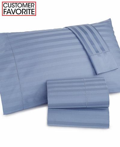 Charter Club Damask Stripe Standard Pillowcase Pair 500