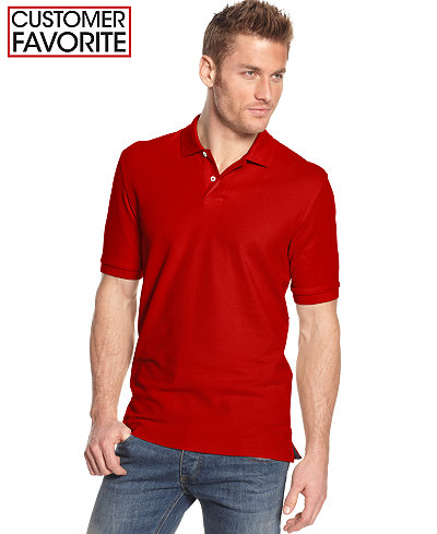Club Room Short Sleeve Solid Estate Performance Polo, Created for Macy's