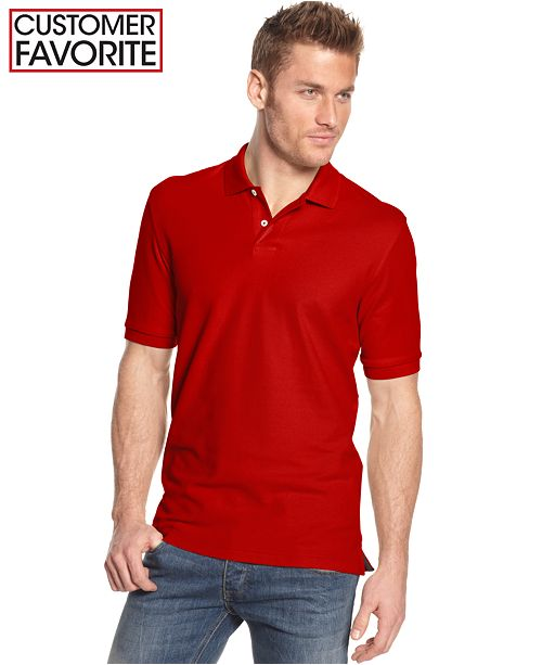 Short Sleeve Solid Estate Performance Polo, Created for Macy's