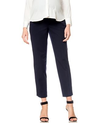 A Pea In The Pod Straight-Leg Cropped Maternity Pants