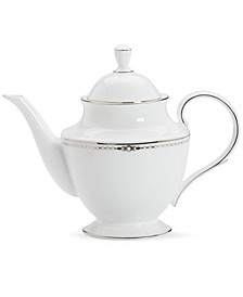 Pearl Platinum 40-oz. Teapot