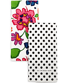 kate spade new york all in good taste Festive Floral Kitchen Towel