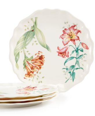 Butterfly Meadow Set of 4 Melamine Salad Plates