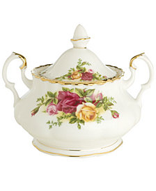 Royal Albert Old Country Roses 11 oz. Covered Sugar Bowl