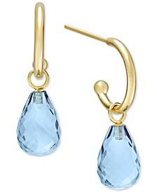 Blue Topaz Hoop Earrings (8 ct. t.w.) in 14k Gold (Also in Citrine, Rhodolite Garnet & Amethyst)