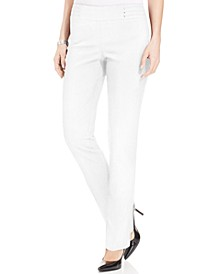 Regular and Short Length Studded Pull-On Tummy Control Pants, Created for Macy's