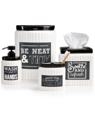 avanti chalk it up bath accessories collection - bathroom