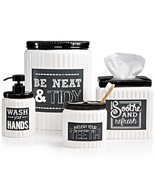 Chalk It Up Bath Accessories Collection