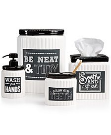 Avanti Chalk It Up Bath Accessories Collection