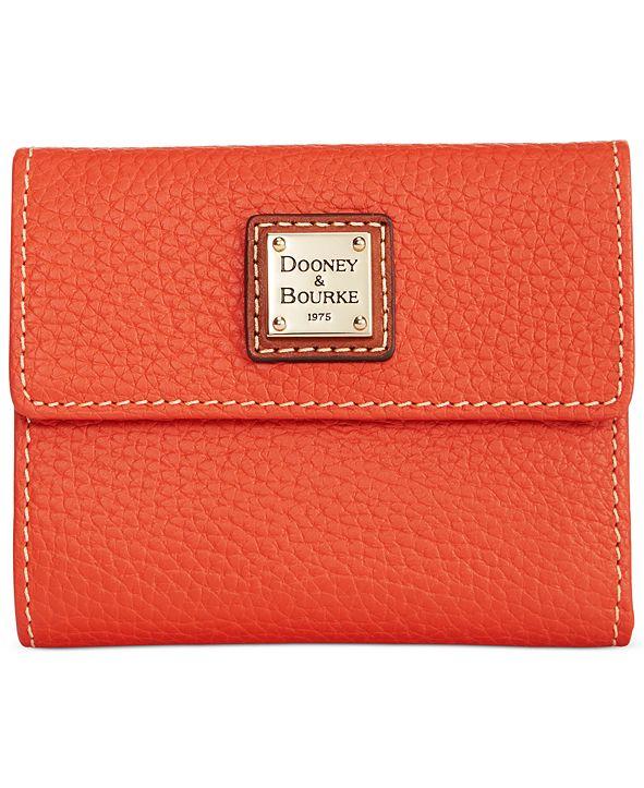 Dooney & Bourke Pebble Leather Small Flap Wallet