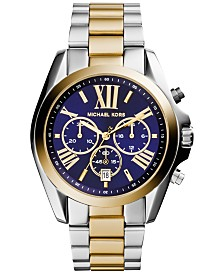 Michael Kors Women's Chronograph Bradshaw Two-Tone Stainless Steel Bracelet Watch 43mm MK5976