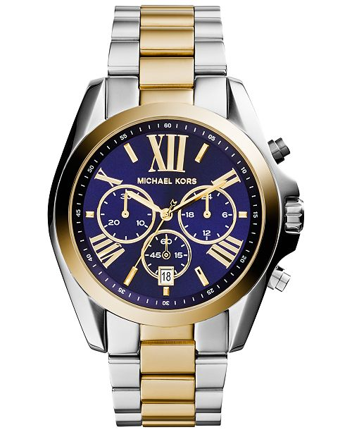 534cbf119a6a Michael Kors Women rsquo s Chronograph Bradshaw Two-Tone Stainless Steel  Bracelet Watch 43mm MK5976 ...