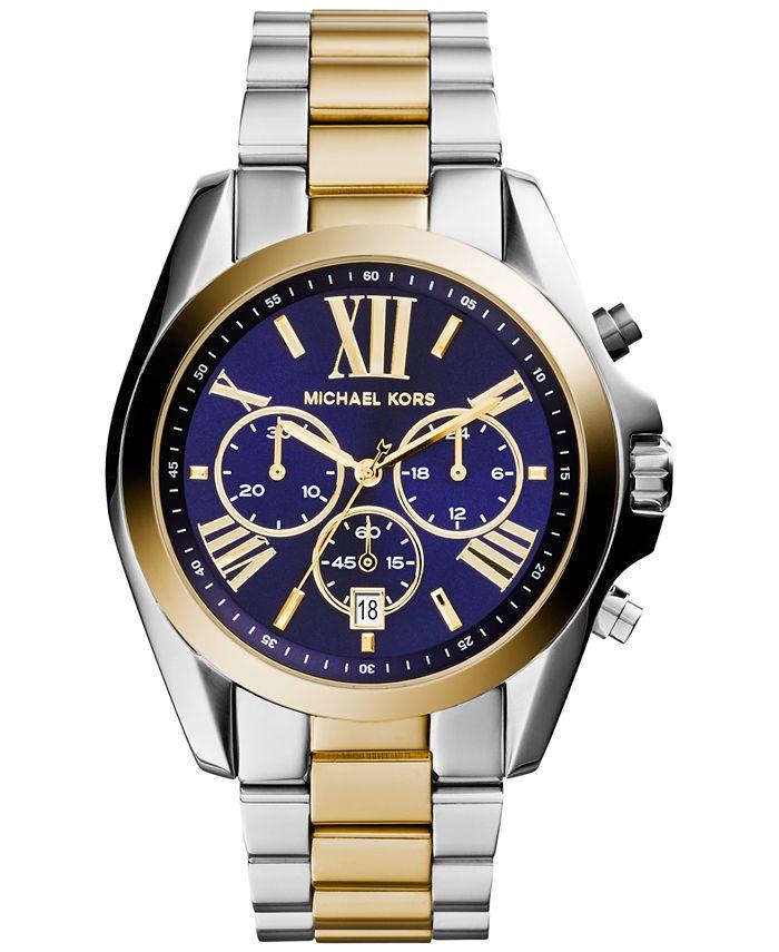 Michael Kors - Women's Chronograph Bradshaw Two-Tone Stainless Steel Bracelet Watch 43mm MK5976